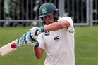 MILESTONE: Tom Bruce was unbeaten  on 166 runs for his second first-class century yesterday. PHOTO/NZME