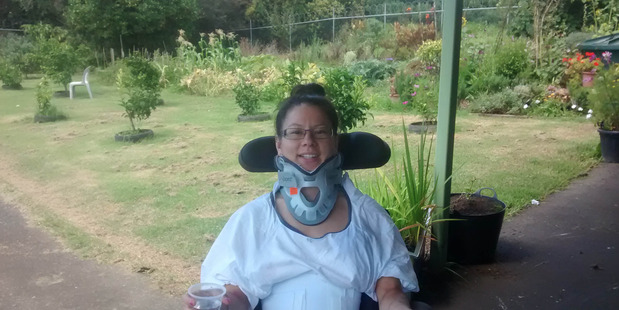 NEW LIFE: Laura in the gardens of the Auckland Spinal Rehabilitation Unit.