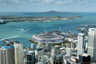 An artist's impression of a new waterfront stadium for Auckland