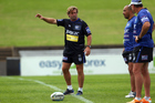 Coach Des Hasler instructs his team during a Canterbury Bulldogs NRL training session at Belmore Sports Ground. Photo / Getty Images