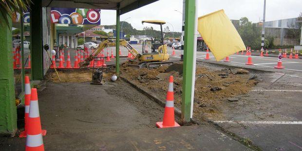 The Eketahuna town upgrade is well under way. PHOTO/SUPPLIED
