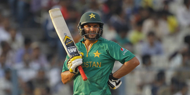 Shahid Afridi impressed in Pakistan's opening win. Photo / AP
