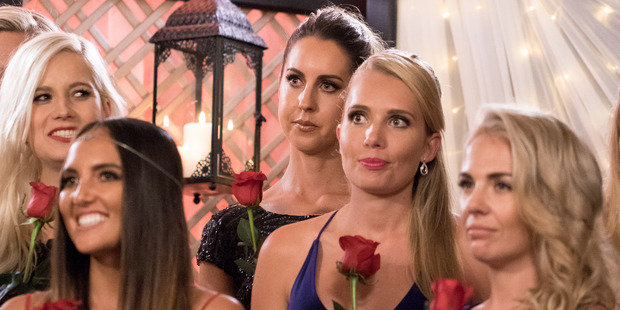 Some of the lucky contestants on The Bachelor NZ during last night's rose ceremony.