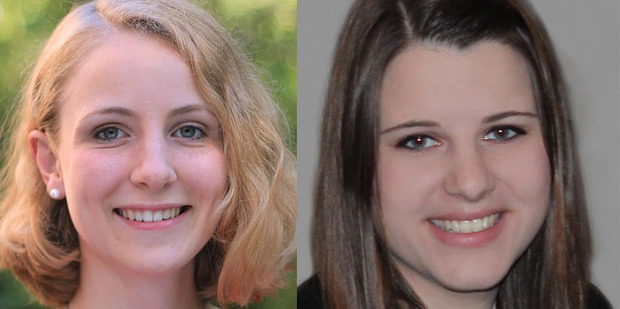 """Kathrin Schmitt and Julia Mayer, both 19, died in the February 26 tragedy, described as a """"horrific freak accident"""" by emergency services staff."""