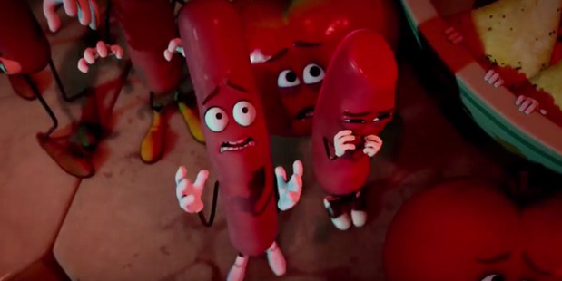 A scene from the movie Sausage Party.