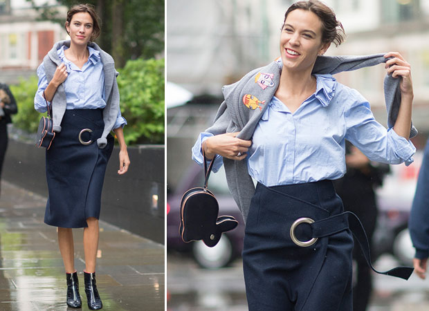 Alexa Chung during London Fashion Week in England. Photo / Getty Images