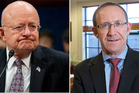 Director of National Intelligence James Clapper and Labour Party leader Andrew Little. Photos / AP / Mark Mitchell
