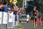 Whakatane's Hayden Wilde (18) took individual line honours at the Marra Sprint Triathlon at Mount Maunganui on Sunday. Photo / George Novak