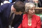 Distracting: UK Chancellor George Osborne and Home Secretary Theresa May.