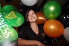 Rose and Shamrock Village Inn staff member Sammi Bell getting in the spirit for today's celebrations. PHOTO/PAUL TAYLOR