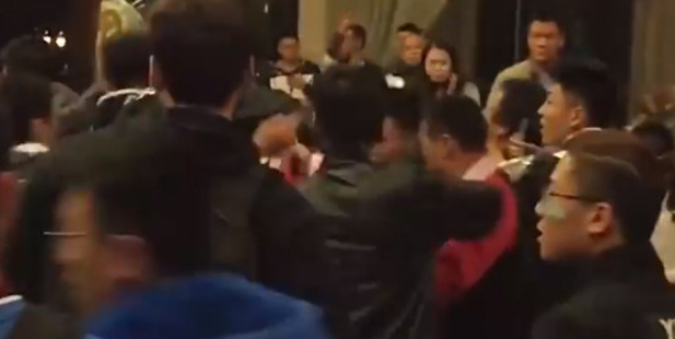 Loading Liaoning Leopards players were returning to their hotel before brawling with rival fans.