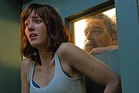 Mary Elizabeth Winstead and John Goodman in a scene from 10 Cloverfield Lane, produced by JJ Abrams.