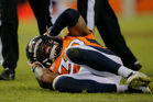 A Denver Broncos player suffers a concussion. Photo / Getty