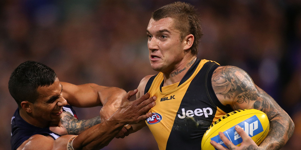 Dustin Martin's father has been detained and is awaiting deportation. Photo / Getty Images