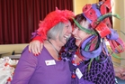 Kathryn Mulinder and Dame Gypsy Magpie of the EvaReady Cheery Chicz are returning their assistance for last year's successful Red Hat Society conference to the council. Photo / Christine McKay