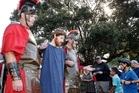 Jesus is led to the cross by Roman soldiers in a scene from last year's St Andrews and Whangarei Central Baptist Church reenactment of the Easter story. Photo / Tania Whyte