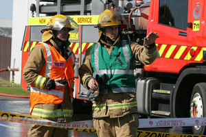 Most of the fire had been put out and ground crew are now hot spotting the area. File photo
