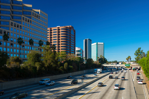 High-rise buildings of the Burbank Media District. Photo / iStock