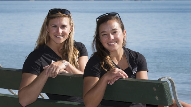 Women's skiff 49erFX (L-R) Molly Meech and Alexandra Maloney. Photo / Brett Phibbs