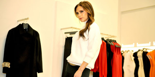 Victoria Beckham visits her boutique in Selfridges. Photo / Getty Images