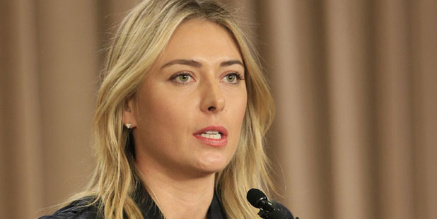 Loading Maria Sharapova has been suspended from her role as UN ambassador. Photo / AP