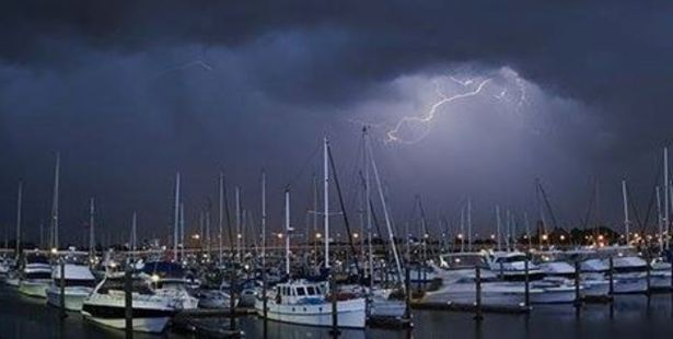 Thunder over Tauranga Marina. Photo/George Novak