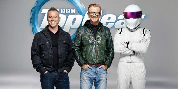 Top Geat hosts Matt LeBlanc and Chris Evans. Photo / BBC