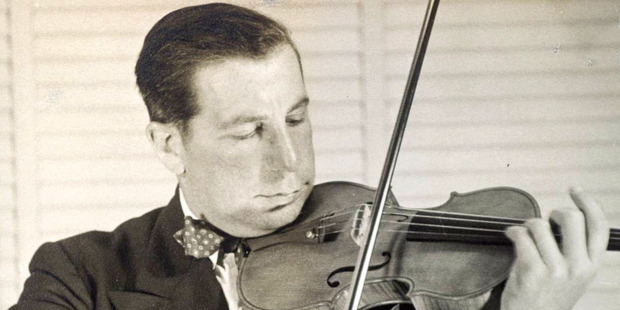 Roman Totenberg performs with the Stradivarius in the 1950s. Photo / Totenberg family via NPR