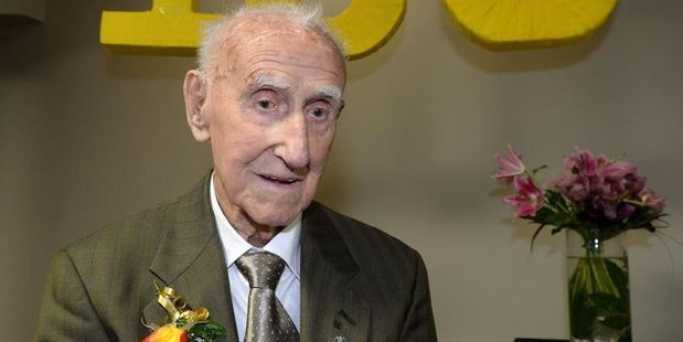 Arthur Cook celebrated his 100th birthday with family on Saturday. Photo / Linda Robertson, Otago Daily Times