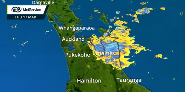 A severe rain watch has been issued for the Coromandel Peninsula. Photo / MetService