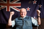 HERE TO STAY: Tauranga RSA member and war veteran Bob Swile thought keeping the flag was a great 90th birthday present. PHOTO/ANDREW WARNER