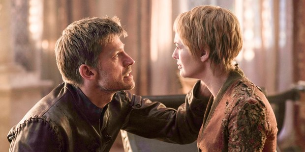 Nikolaj Coster-Waldau as Jaime Lannister and Lena Headey as Cersei Lannister. Photo / HBO