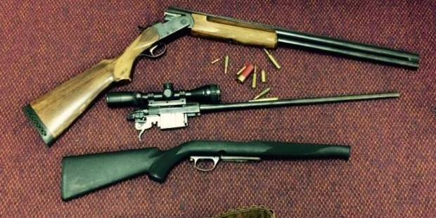 A post on the Te Awamutu Police Facebook page said two firearms, ammunition, cannabis and methamphetamine were seized from an address in Kihikihi. Photo / Supplied