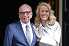 Rupert Murdoch has been absent from Twitter since he married Jerry Hall early this month. Photo / AP