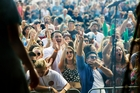 The 5000-strong crowd enjoy the Fritter. Photo / John Stone