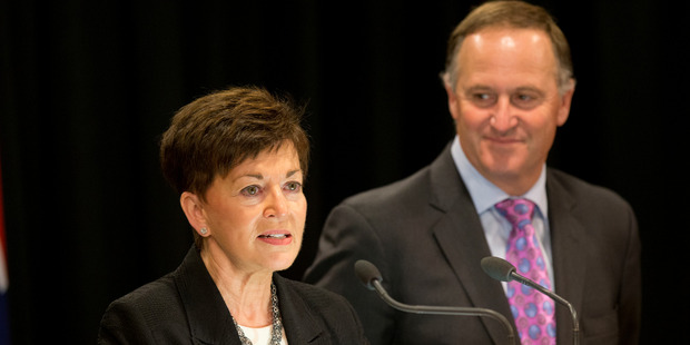 Loading New Zealand's next Governor-General, Dame Patsy Reddy with Prime Minister John Key during the announcement at the Beehive in Wellington. Photo / Mark Mitchell