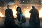 Superman, Wonder Woman and Batman from the new film Batman v Superman: Dawn of Justice.