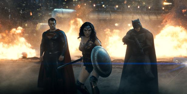 Loading Superman, Wonder Woman and Batman from the new film Batman v Superman: Dawn of Justice.