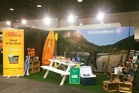 The winning Tararua District Council stand at the Motorhome, Caravan and Outdoor super show in Auckland.