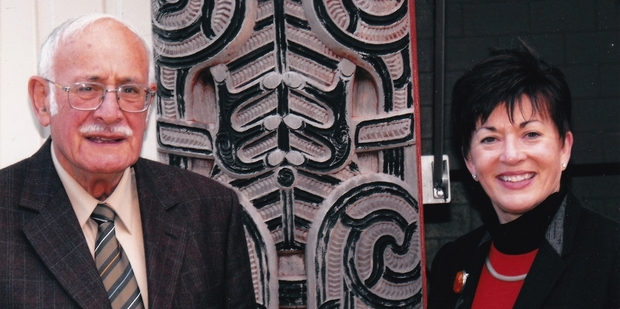 Colin Bidois of Pirirakau's Poututerangi Marae and New Zealand's new Governor-General Dame Patsy Reddy, pictured in the days when each held vital positions in the Treaty of Waitangi settlement process for Tauranga.