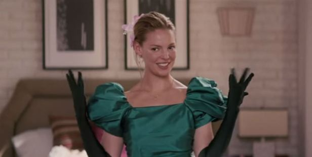 Katherine Heigl models one of her bridesmaid outfits in the movie 27 Dresses. Photo / YouTube