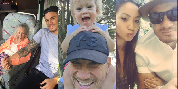 Sonny Bill Williams is making sure he spends quality time with his family as a knee injury rules him out of the All Blacks Sevens side. Photo / Twitter