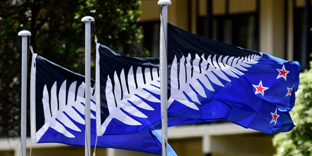 If the alternative flag wins the referendum, flags on public buildings will be changed to the silver fern design. Photo / Getty Images