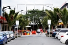 COMING SOON: Cameron St shoppers can stay dry this winter with the installation of a large transparent canopy over Whangarei's main drag. PHOTO/JOHN STONE
