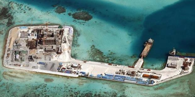 Chigua (Kennan) Reef in the disputed Spratlys Islands. Photo / AAP