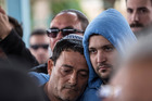 Family and friends mourn during the funeral of Simha Damarib 60, one of three Israelis killed in a suicide bomb attack in Istanbul, Turkey, in Dimona, southern Israel on Tuesday. Photo / AP