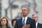"""US President Barack Obama says he and Cuban President Raul Castro had a """"frank and candid conversation"""" on human rights and democracy, and are making progress in tearing down barriers between the two nations."""