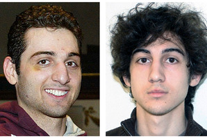 Tamerlan, left, and Dzhokhar Tsarnaev, brothers who planted bombs at the finish line of the Boston Marathon on April 15, 2013. Photo / AP