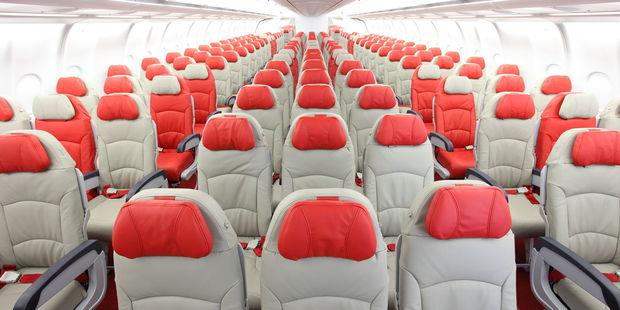 AirAsia X A330-300 economy cabin.
