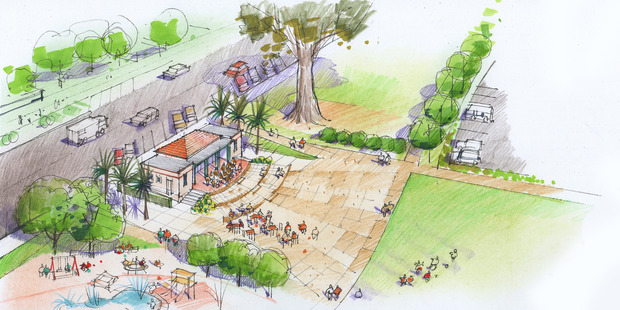 An artist's impression on what the Havelock North Domain will look like.